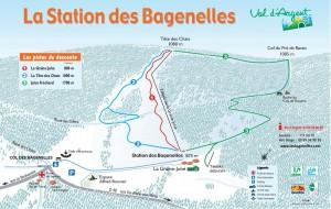 Plan des pistes alpin des bagenelles