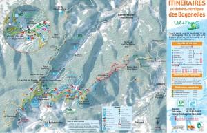 Plan des pistes nordique du col Bagenelles