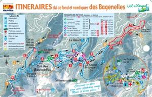 Plan des pistes nordiques détailés1 des bagenelles
