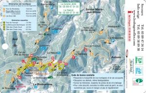 Plan des pistes nordiques détailés2 des bagenelles