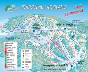 Plan des pistes du lac blanc