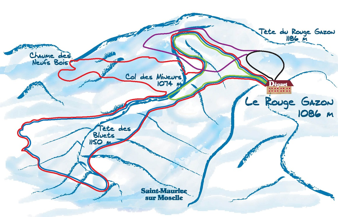 Plan des pistes rouge gazon stations de ski - Meteo rouge gazon ...