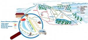 Plan des pistes station ski rouge gazon