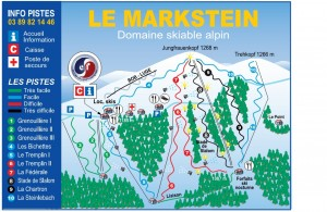 Plan des pistes du domaine alpin du Markstein