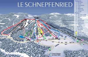 Plan des pistes de la station du Schnepfenried