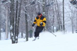 Skieur de stations de ski