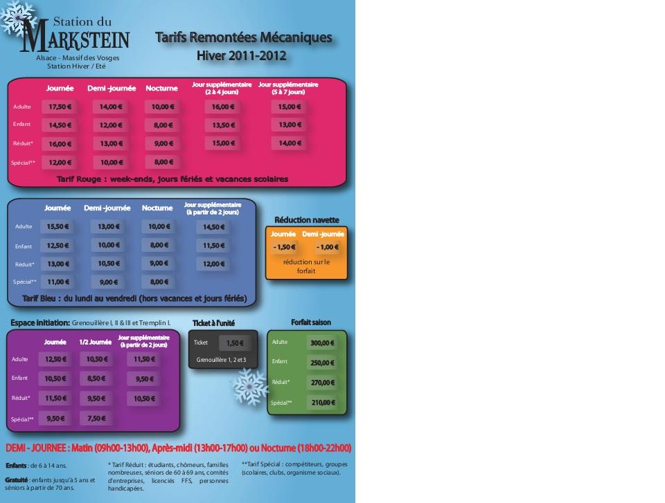 ... du Markstein: Enneigement, météo, plan des pistes, tarif, contact