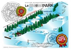 Plan du parc freeride et snowpark du Schnepfenried