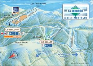 Plan des pistes alpin du col de la Schlucht